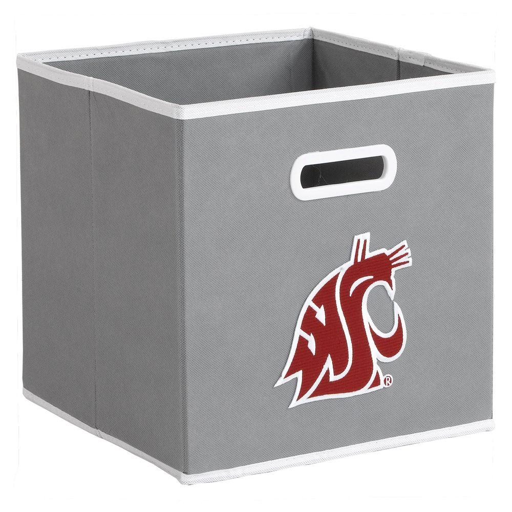 null College STOREITS Washington State University 10-1/2 in. W x 10-1/2 in. H x 11 in. D Grey Fabric Storage Drawer