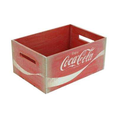 18.25 in. x 12.375 in. x 8.5 in. Coca-Cola Large Crate in Vintage Red