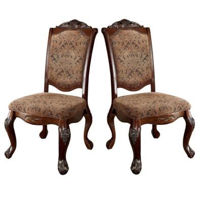 Cromwell Traditional Antique Cherry Wooden Side Chair (Set of 2)