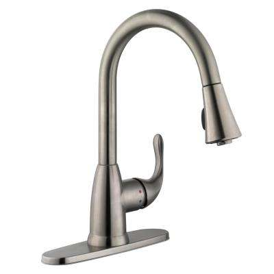 Delightful Market Single Handle Pull Down Sprayer Kitchen Faucet In Stainless Steel
