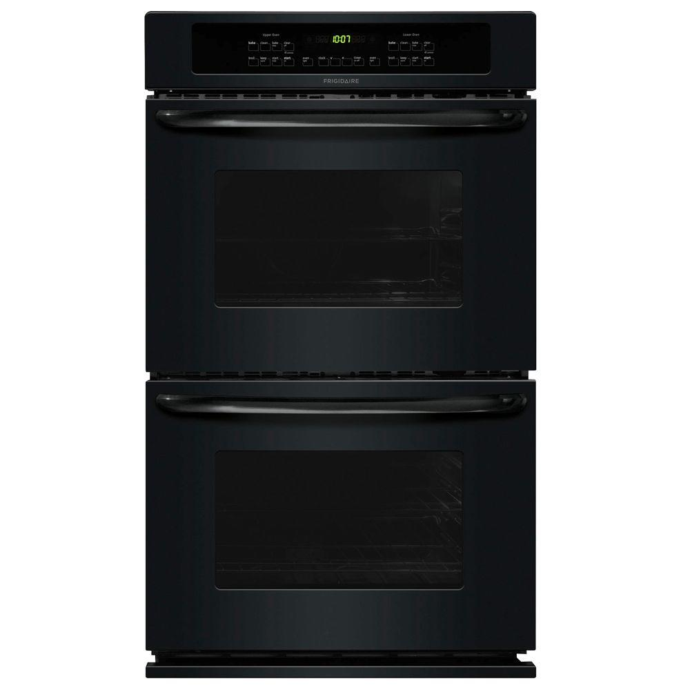 Frigidaire 30 in. Double Electric Wall Oven Self-Cleaning in Black