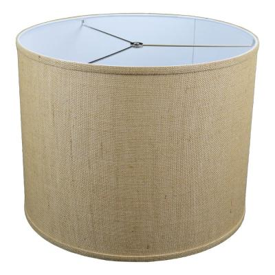 Fenchel Shades 18 in. Top Diameter x 18 in. Bottom Diameter x 14 in. Height Drum Lamp Shade - Burlap Natural