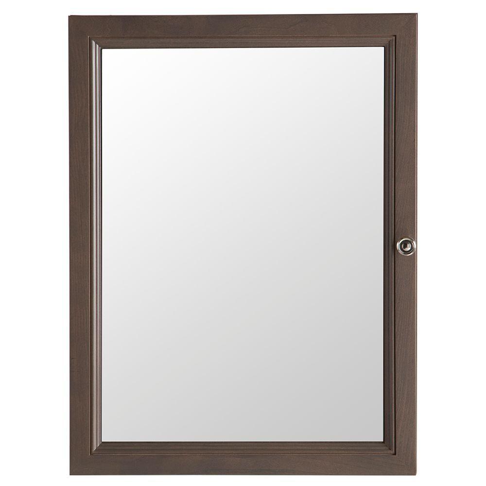 Delridge 22-13/100 in. W x 29-1/2 in. H Framed Surface-Mount Bathroom Medicine Cabinet in Flagstone