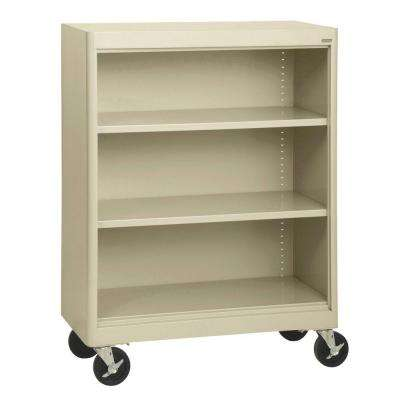 Radius Edge Putty Mobile Steel Bookcase