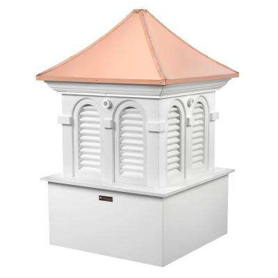 48 in. x 73 in. Smithsonian Alexandria Vinyl Cupola with Copper Roof