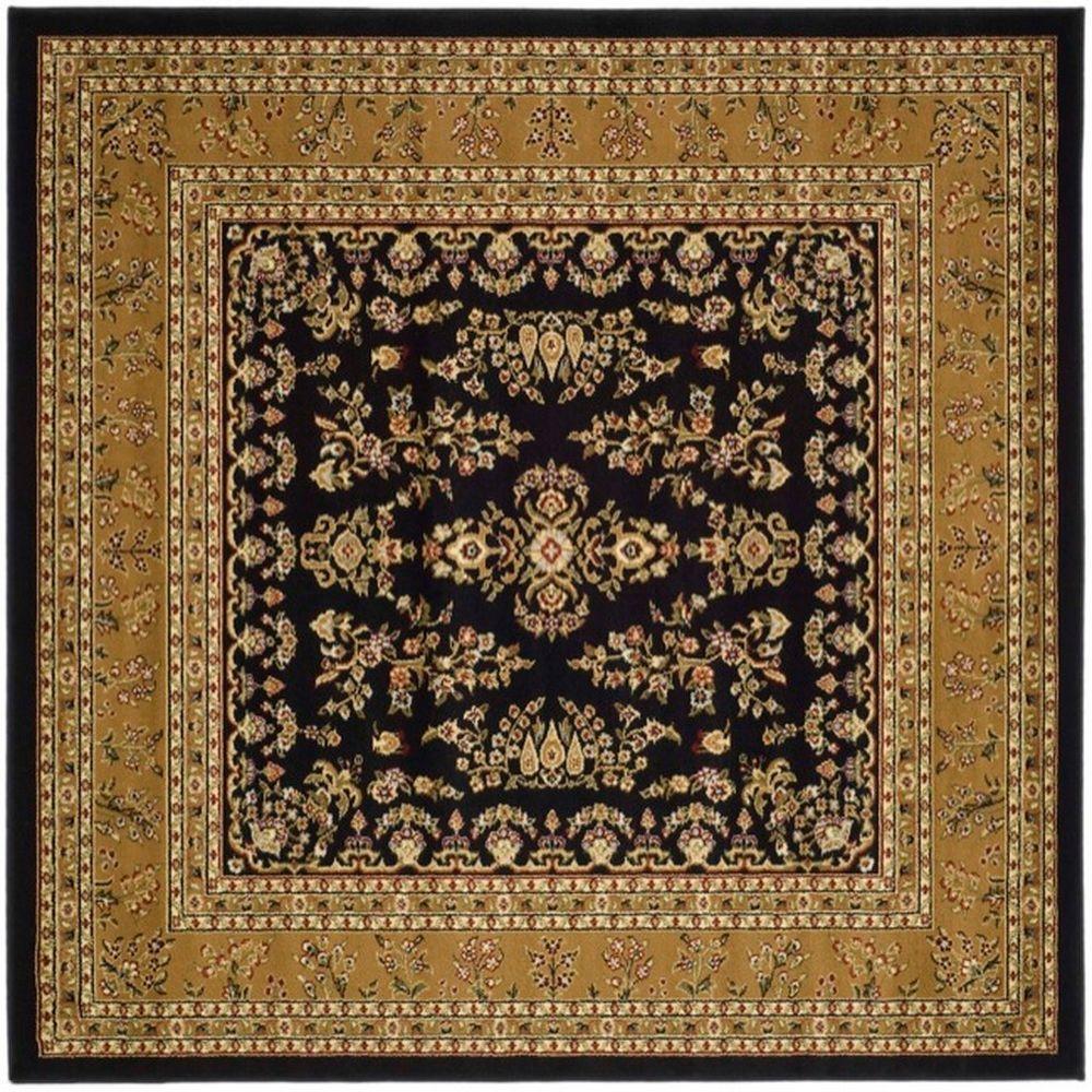 Safavieh Lyndhurst Black Tan 6 Ft X 6 Ft Square Area Rug Lnh331d