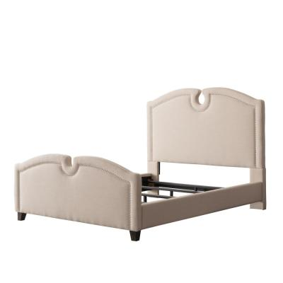 Fairfield Cream Fabric Twin/Single Curved Top Bed