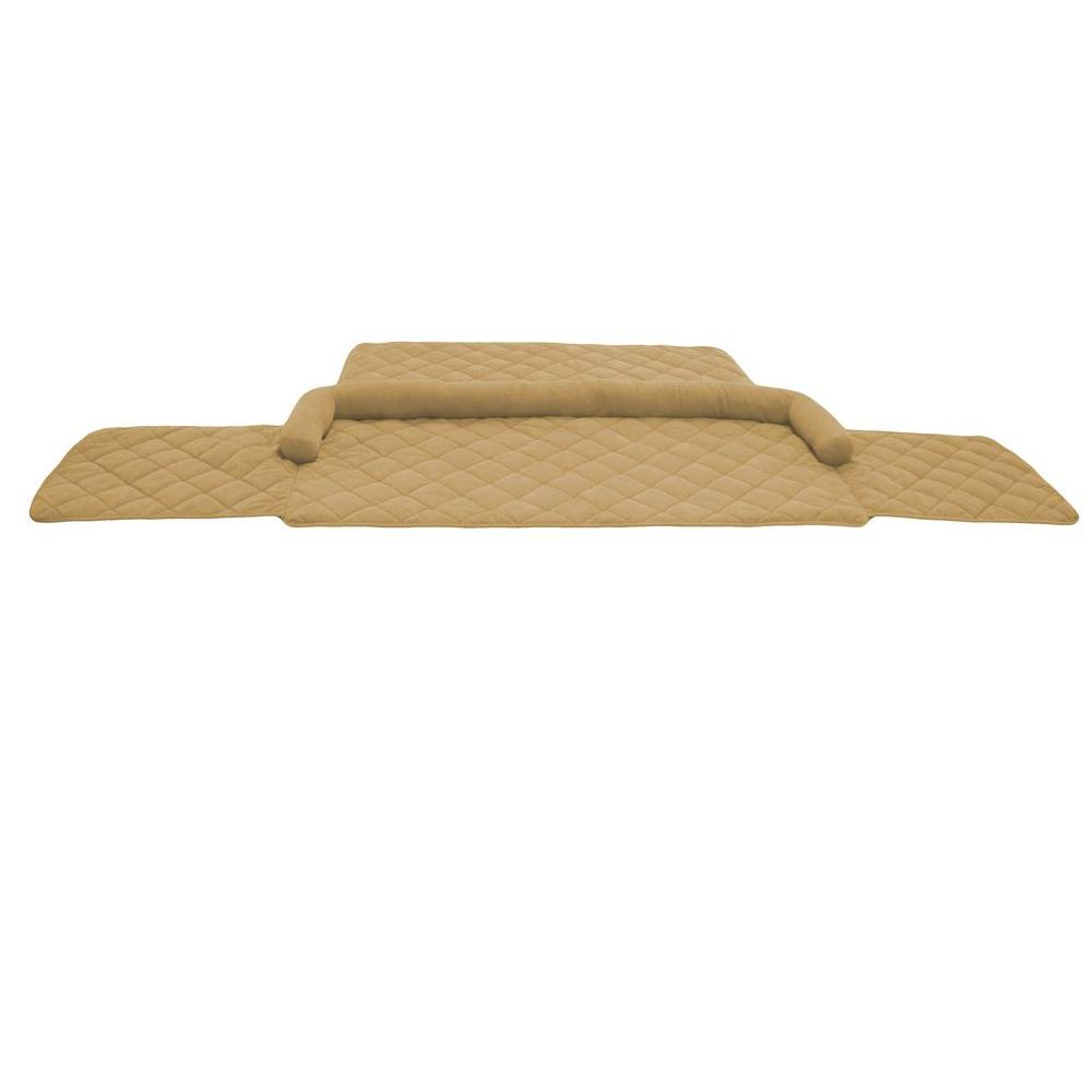 null Large Quilted Couch Protector with Bolster and Protective Arm Flaps - Carmel-DISCONTINUED