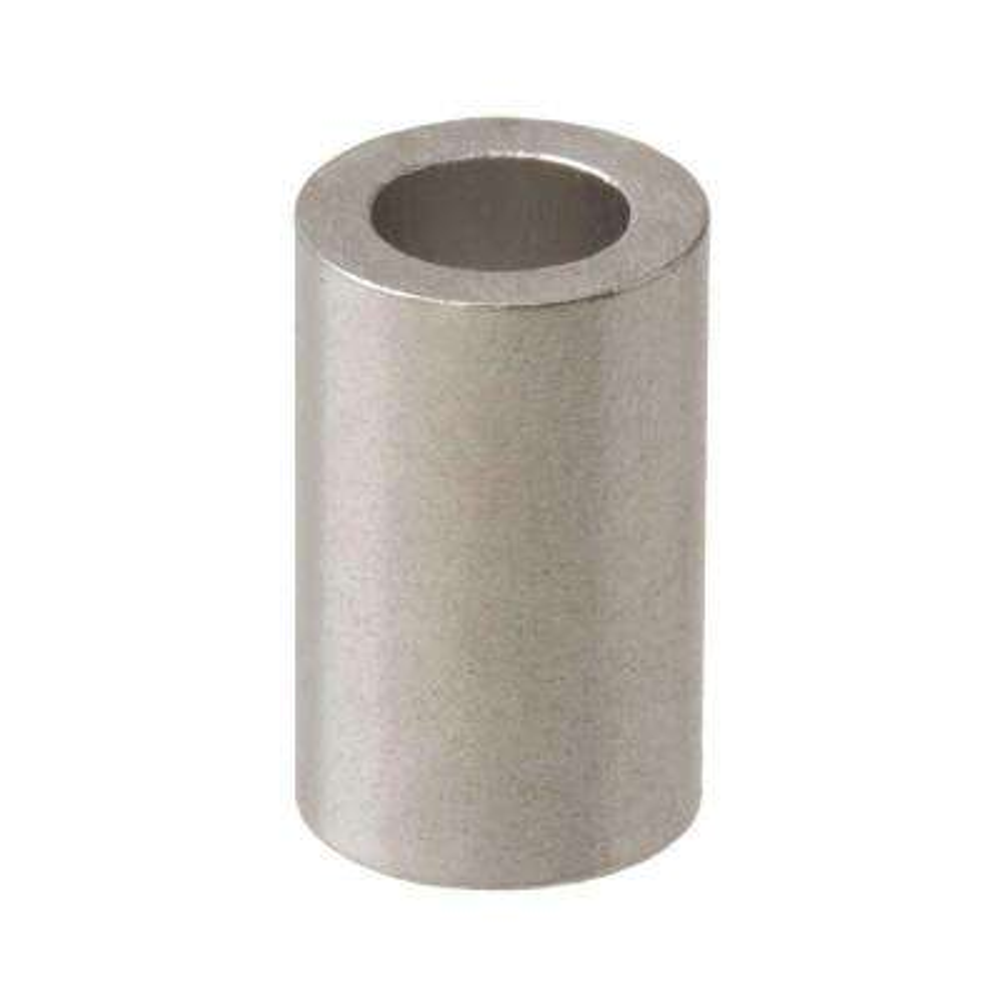#6 x 1 in. x 1/4 in. Outer Diameter Spacer Aluminum