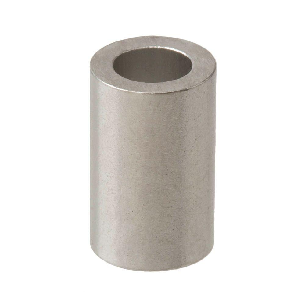 Everbilt 8 X 1 4 In X 1 In Aluminum Spacer 815258 The Home Depot