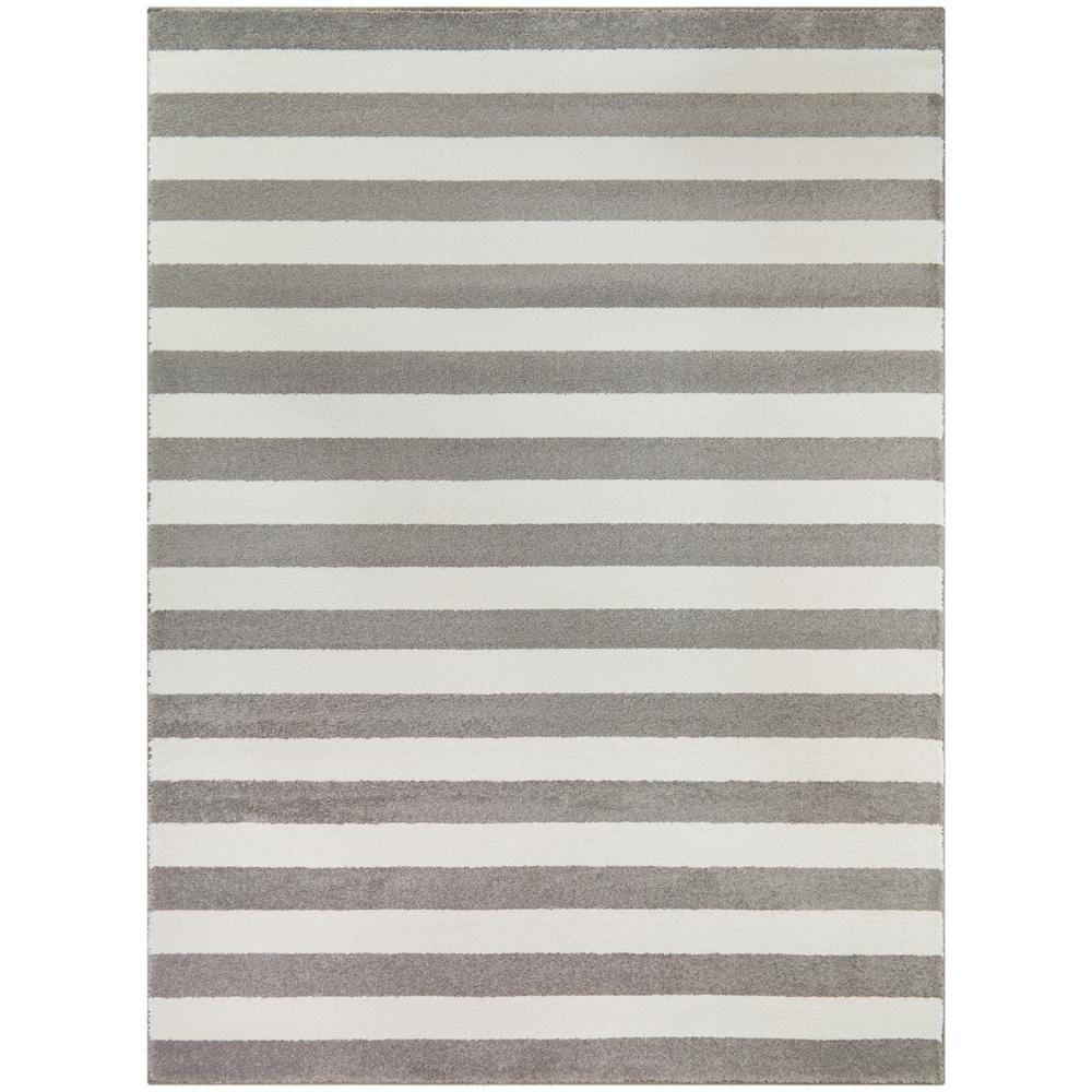 Scott Grey 8 ft. x 10 ft. Striped Area Rug