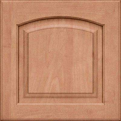 15x15 in. Cabinet Door Sample in Piermont Maple Roman with Ginger Sable Glaze