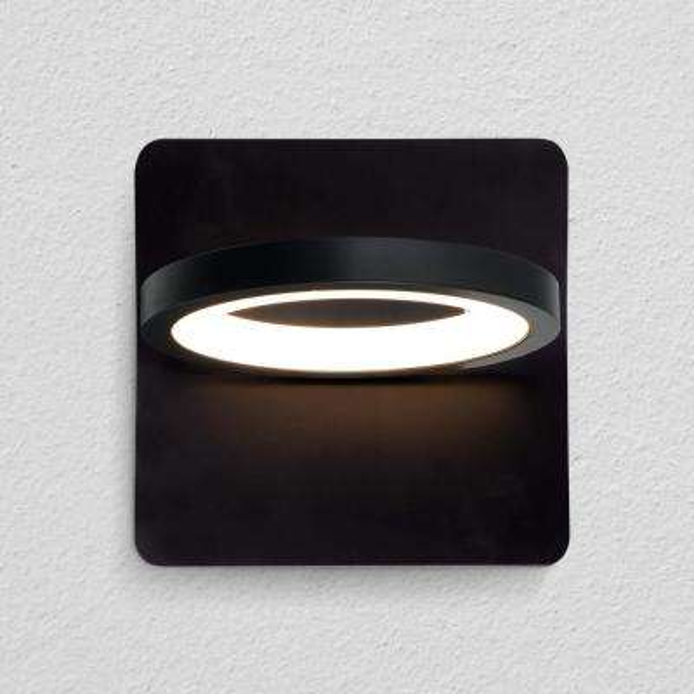 Tania 8-Watt Black Integrated LED Sconce