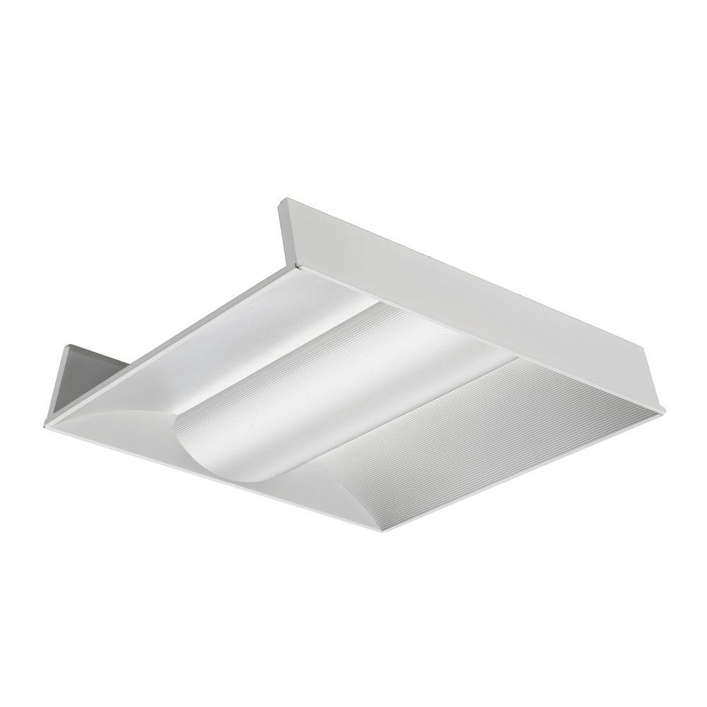 Lithonia lighting 2 ft x 2 ft silver 9 cell multi volt fluorescent 2vt8 2 17 adp mvolt geb10is white fluorescent architectural troffer arubaitofo Images