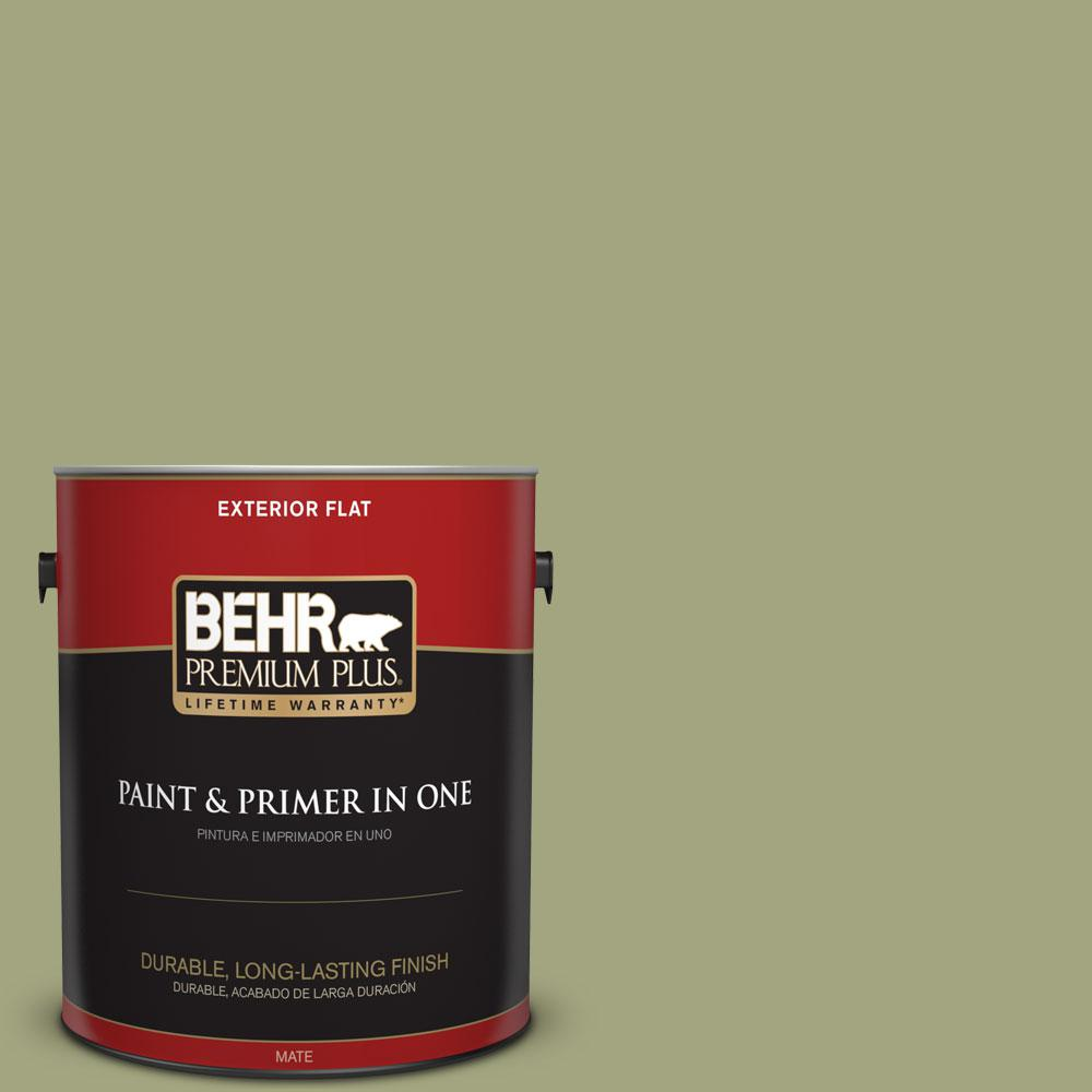 1-gal. #410F-4 Mother Nature Flat Exterior Paint
