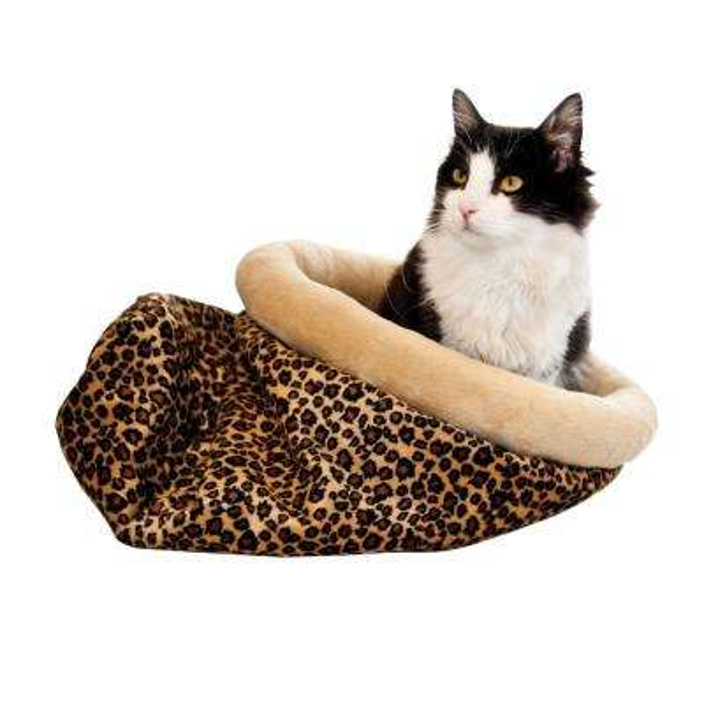 Kitty Sack Medium Zebra Self Warming Cat Bed