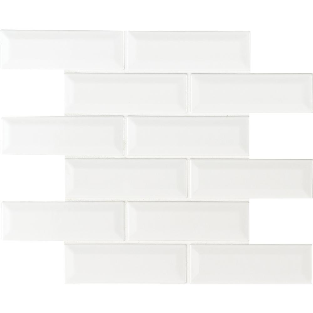 Whisper White Beveled 12 in. x 12 in. x 10 mm