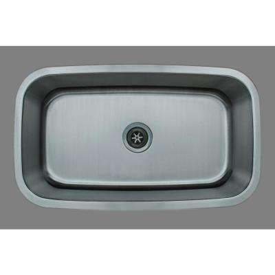 The Craftsmen Series Undermount  Stainless Steel 31 in. Single Bowl Kitchen Sink