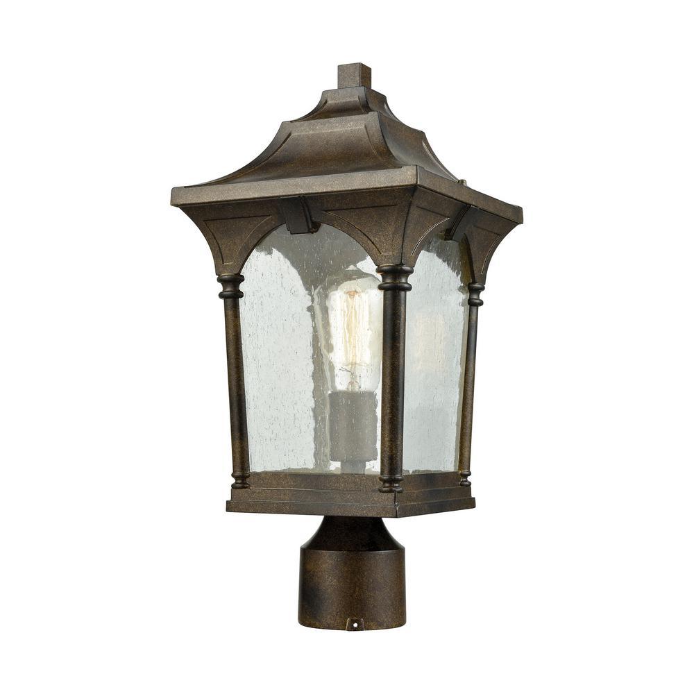 Loringdale 1-Light Outdoor Hazelnut Bronze Post Light