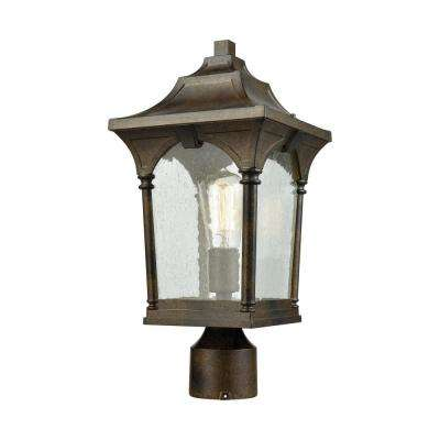 Loringdale 1-Light Outdoor Hazelnut Bronze Post Light