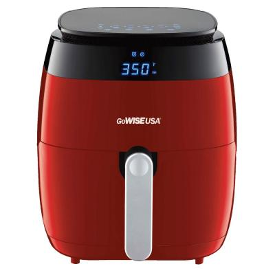 5 Qt. Red Air Fryer with Duo Touchscreen Display
