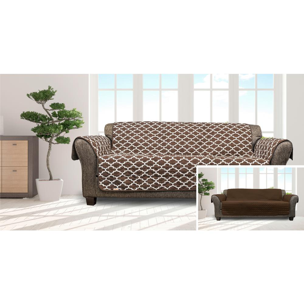 Remarkable Coby Chocolate Reversible Water Resistent Microfiber Sofa Cover Gmtry Best Dining Table And Chair Ideas Images Gmtryco
