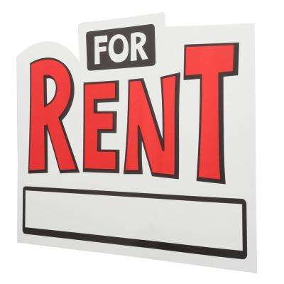 10 in. x 14 in. 2D Shaped for Rent Sign