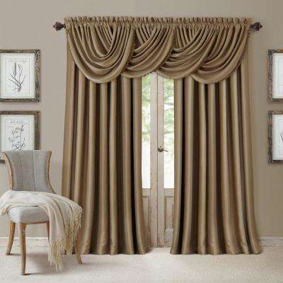 Blackout All Seasons 52 in.W x 95 in.L, Single Panel Blackout Rod Pocket Window Curtain Drape Regal Solid, Antique Gold