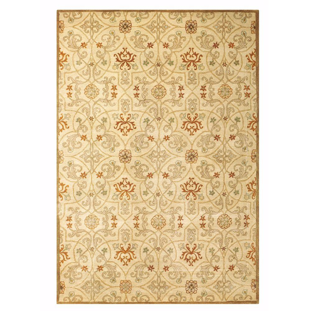 Home Decorators Collection Grimsby Light Gold 5 ft. 3 in. x 8 ft. 3 in. Area Rug