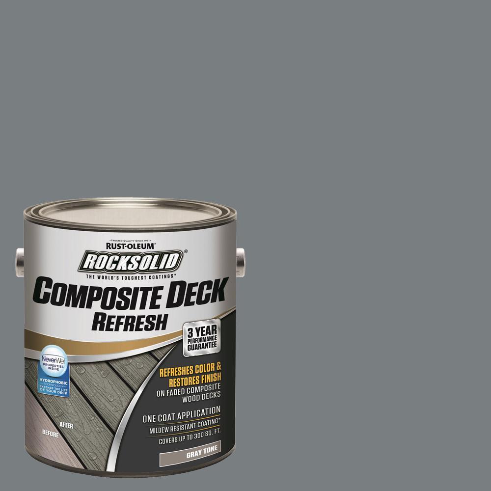 Rust-Oleum RockSolid 1 Gal. Gray Composite Deck Coating (2-Pack)