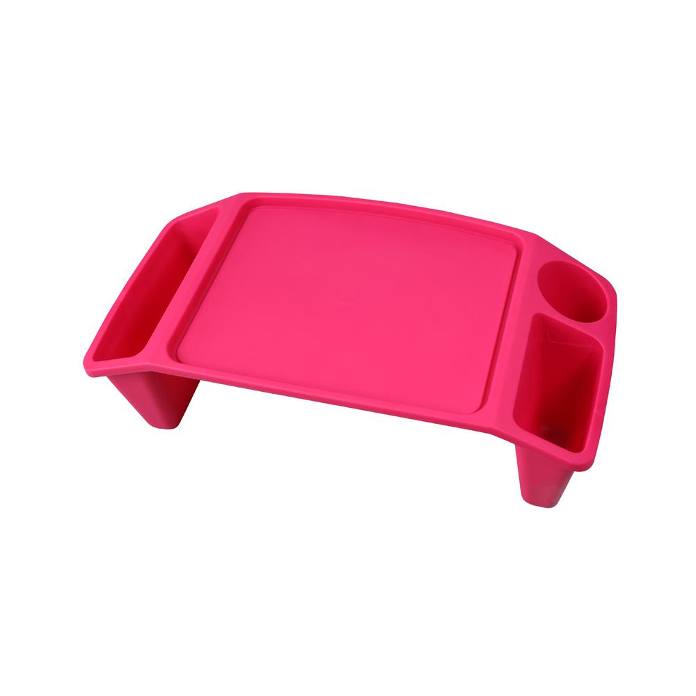 Basicwise Pink Kids Lap Desk Tray Portable Activity Table