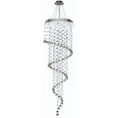 Helix 10-Light Polished Chrome Chandelier with Clear Crystal