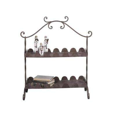 Rust Decorative 2-Tier Tray
