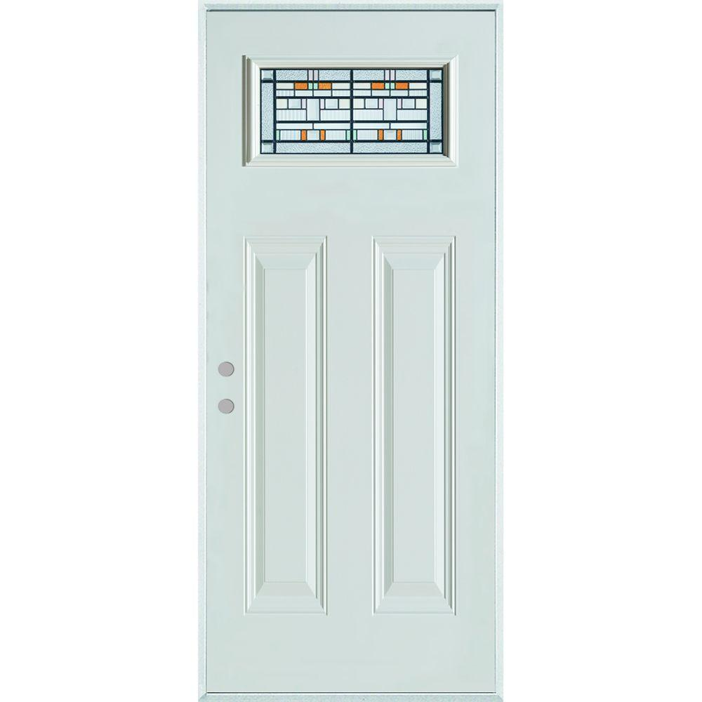 37.375 in. x 82.375 in. Architectural Rectangular Lite 2-Panel Painted White