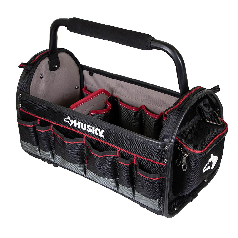 6a94c23cbf79 Husky 20 in. Pro Tool Tote with Removable Tool Wall-67129-02 - The ...
