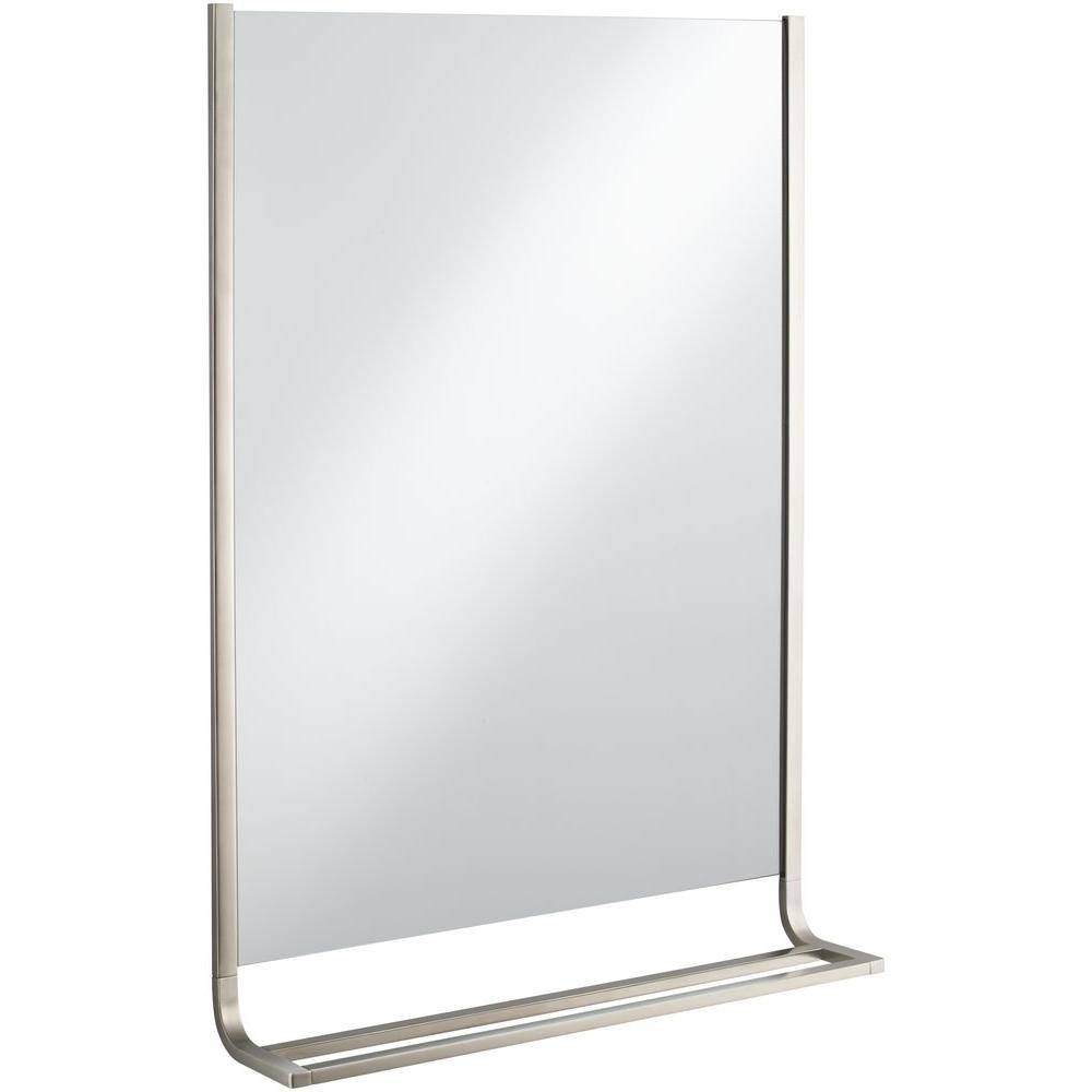 KOHLER Loure 25 in. x 36 in. Single Wall Mirror and Towel Bar in ...