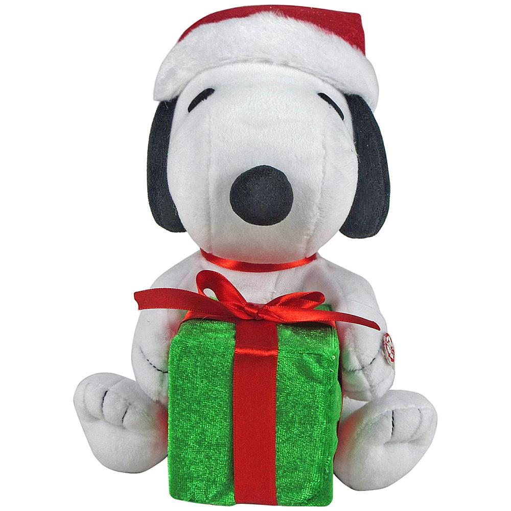 9.06 in. Animated Plush LightShow Snoopy with Present