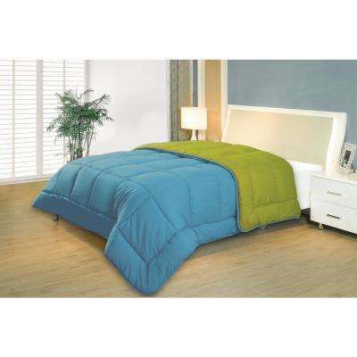 Reversible Blue/Lime Twin Down Alternative Comforter