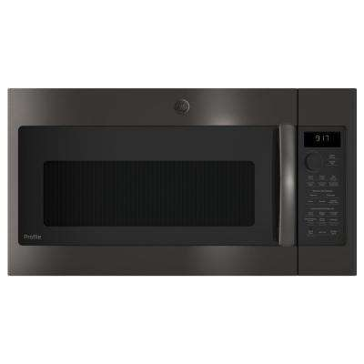 Profile 1.7 cu. ft. Over the Range Convection Microwave in Black Stainless Steel, Fingerprint Resistant