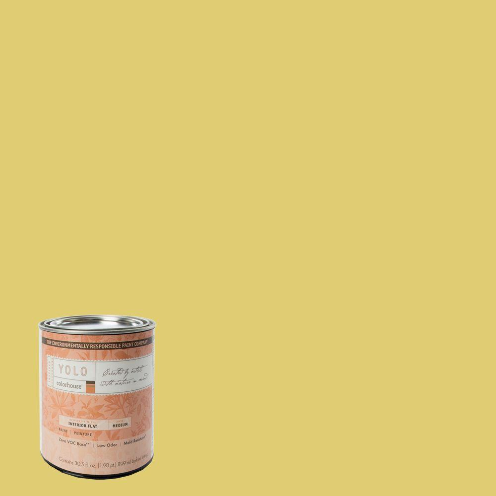 YOLO Colorhouse 1-Qt. Beeswax .04 Flat Interior Paint-DISCONTINUED
