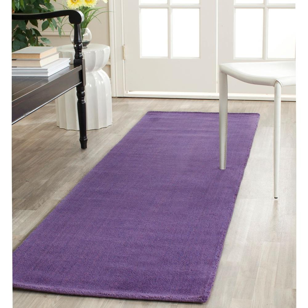 Himalaya Purple 2 Ft. 3 In. X 14 Ft. Runner Rug