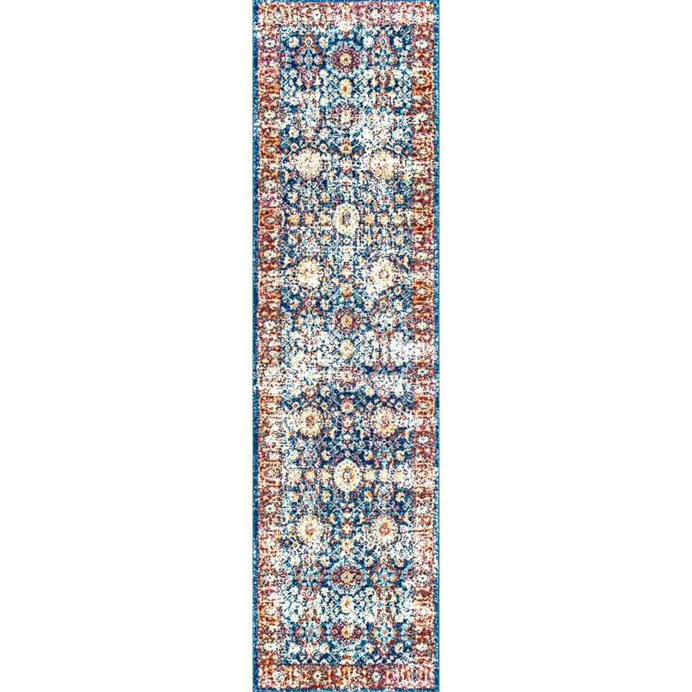 Vintage Persian Zoila Blue 2 ft. x 8 ft. Runner Rug