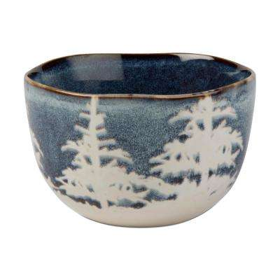 Forest Reactive Glaze 16 oz. 1-Piece Midnight Blue Snack Bowl