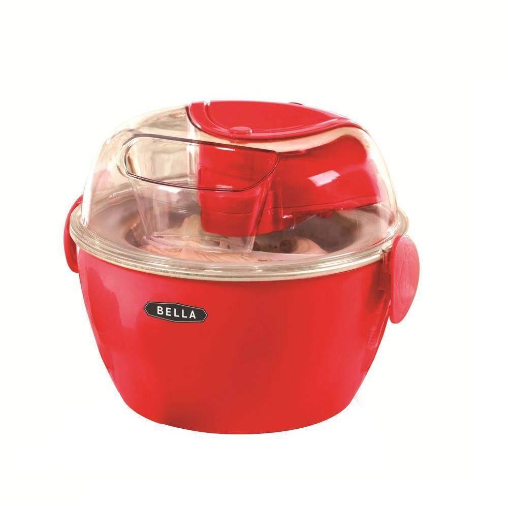 Bella 1 l Ice Cream Maker in Red