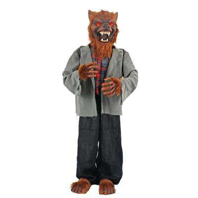 36 in animated standing werewolf with led illuminated eyes