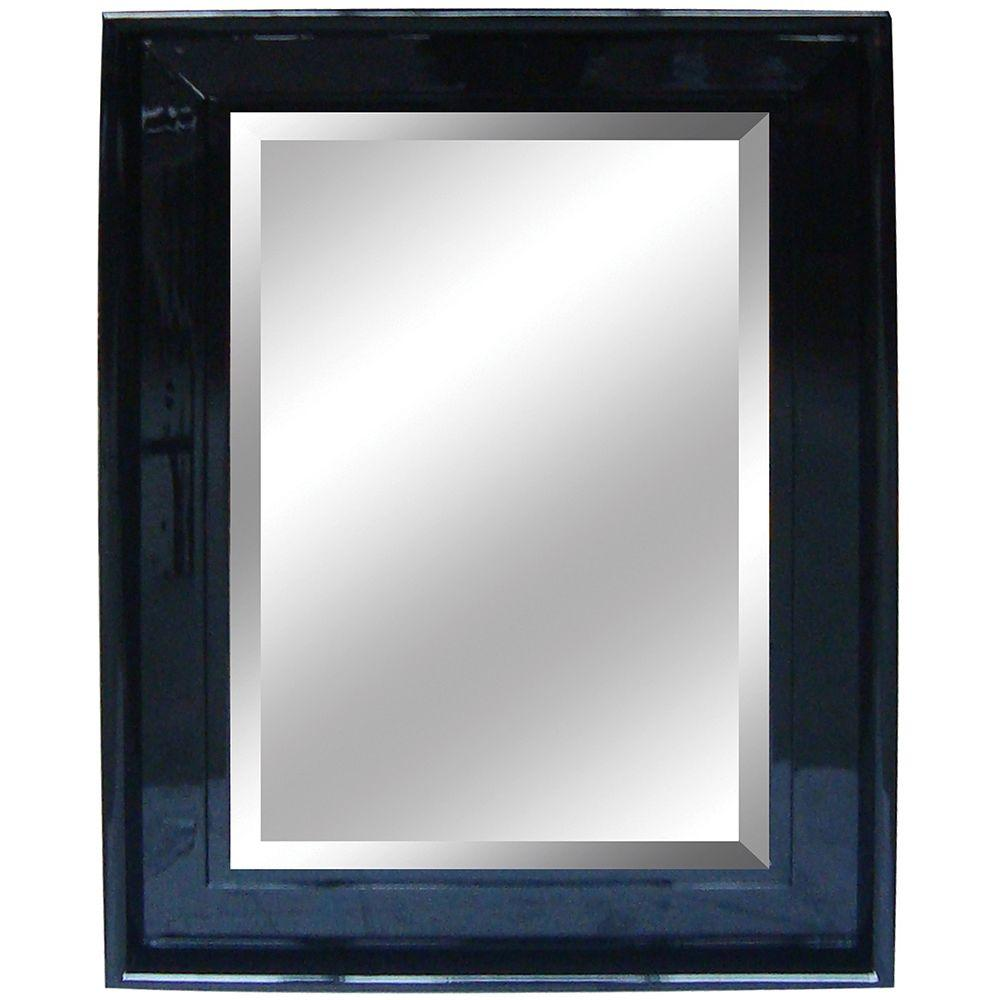 Yosemite Home Decor 34 in. x 46 in. Rectangular Decorative Black Framed Mirror