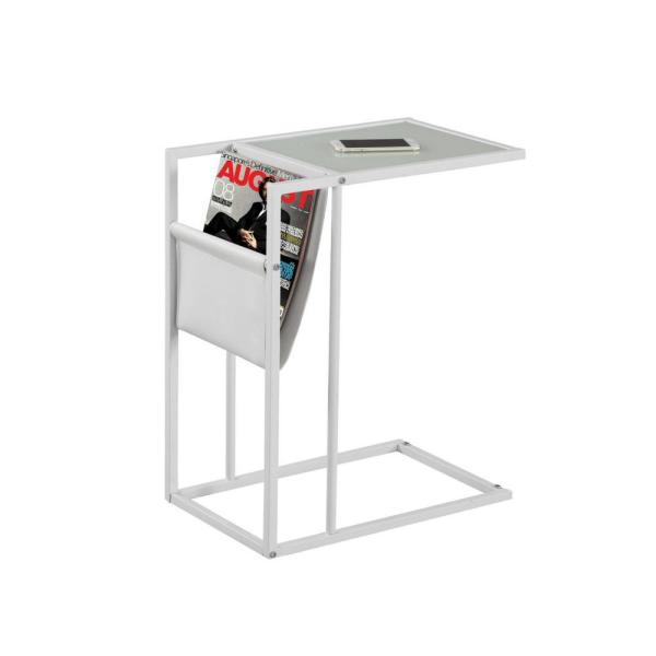 Jasmine 24 in. White Metal End Table