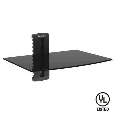 Universal Single Shelf Wall Mount for A/V Components, Black