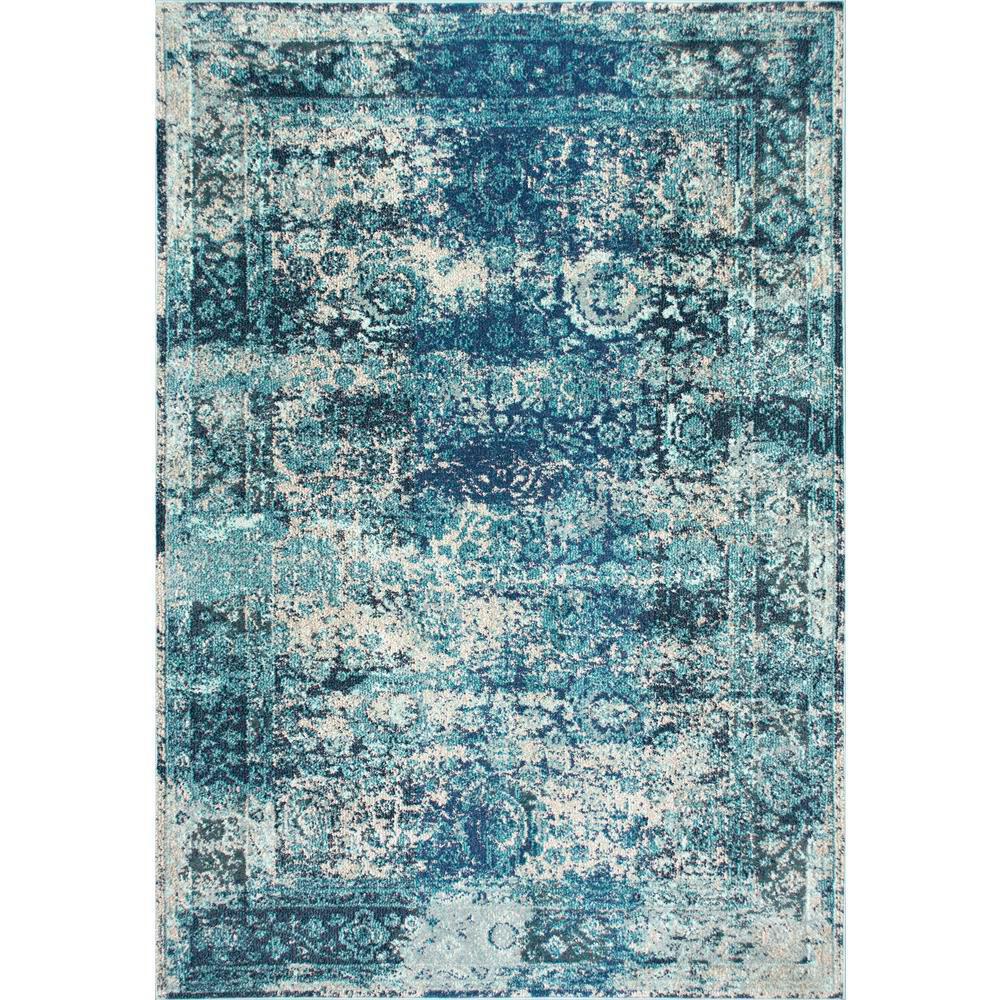 Nuloom Shuler Vintage Ocean Blue 9 Ft