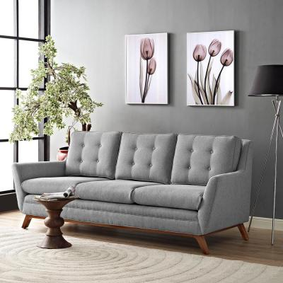 Beguile Expectation Gray Upholstered Fabric Sofa